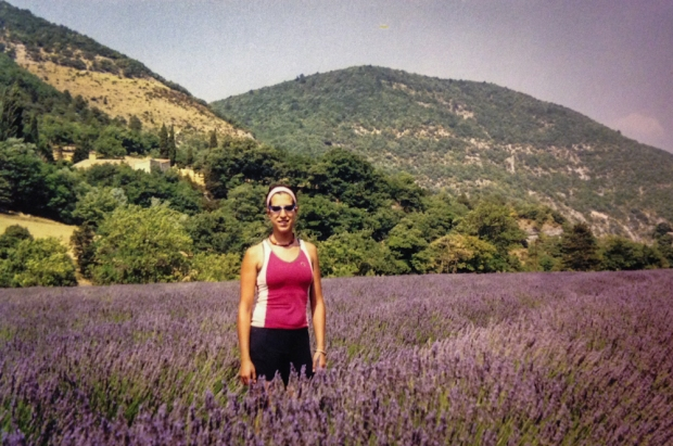 I used to stop and pick small amounts of lavender to keep in my jersey. Without access to laundromats, natural air fresheners were a must.